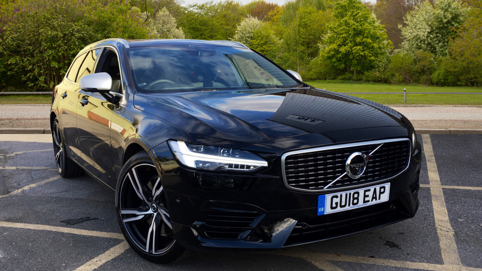 Volvo V90 2.0 T8 Hybrid AWD R DESIGN Pro Estate Auto with Air Suspension, Xenium Pack, & Family Pack  Petrol/Electric Automatic 5 door (2018) image