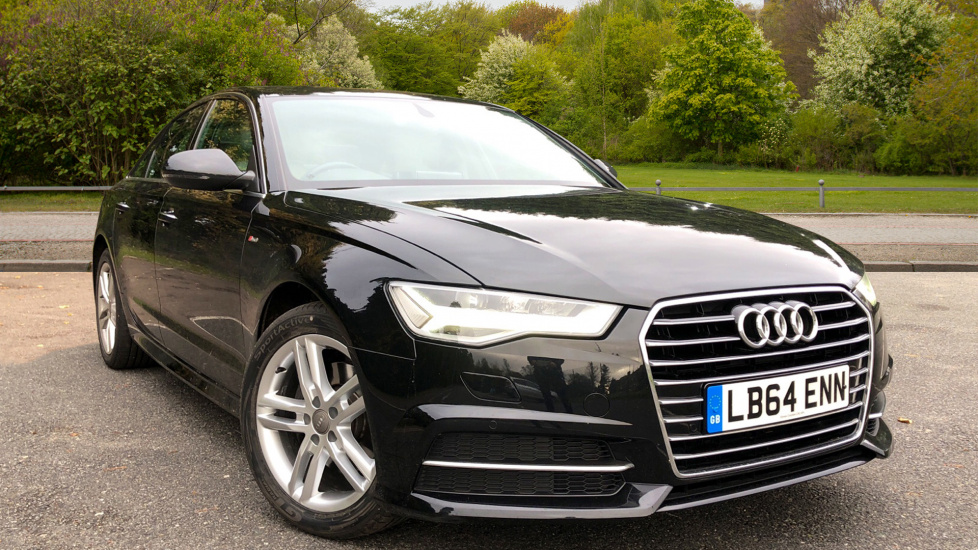 Audi A6 2.0 TDI Ultra S Line S Tronic Auto with Nav Plus High, Light Pack, Audi Connect & Colour DIS Diesel Automatic 4 door Saloon (2014) image
