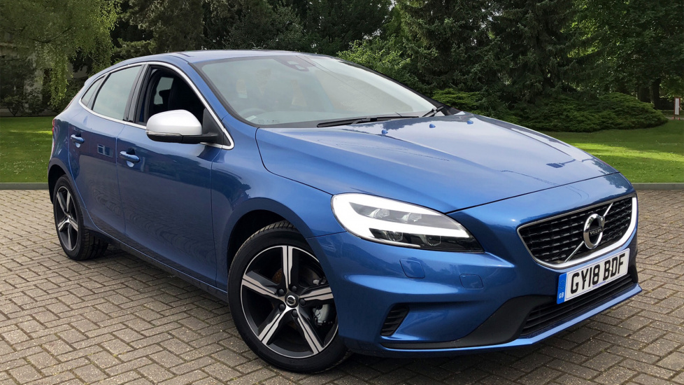 Volvo V40 D2 R-Design Nav Plus W. Winter Pk & Premium Bursting Blue Paint 2.0 Diesel 5 door Hatchback (2018) image