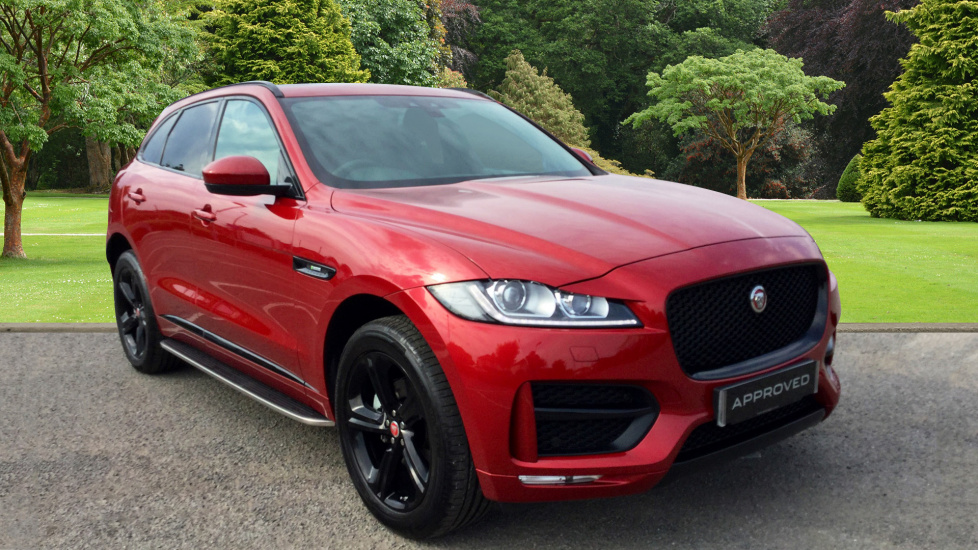 used jaguar f pace r sport d awd red ao17xoc. Black Bedroom Furniture Sets. Home Design Ideas
