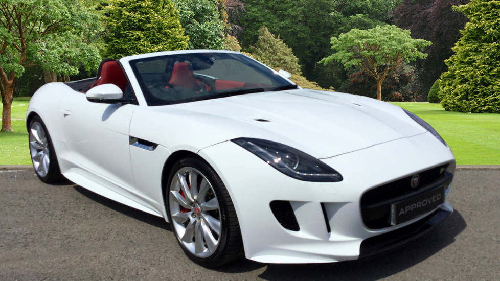 used jaguar f type r v8 supercharged awd white ov16vlk. Black Bedroom Furniture Sets. Home Design Ideas