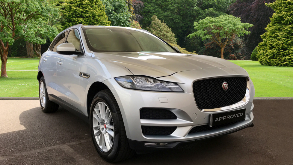 used jaguar f pace portfolio d awd silver hv66vry. Black Bedroom Furniture Sets. Home Design Ideas