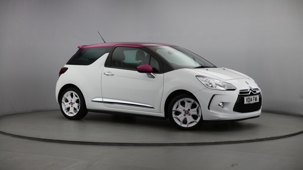 Used Citroen DS3 Hatchback 1.6 e-HDi Airdream DSport Pink 3dr