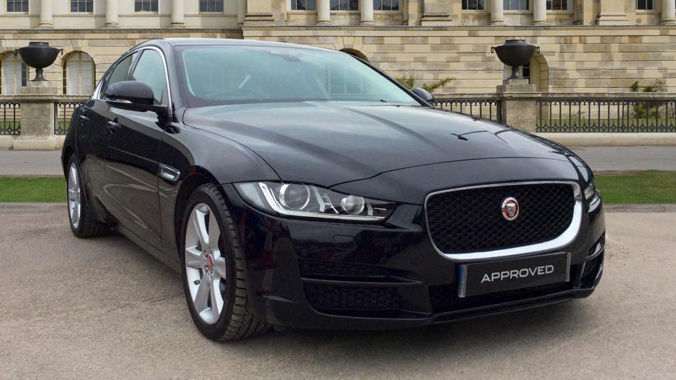 used jaguar xe portfolio d 180 black oe65ocv. Black Bedroom Furniture Sets. Home Design Ideas