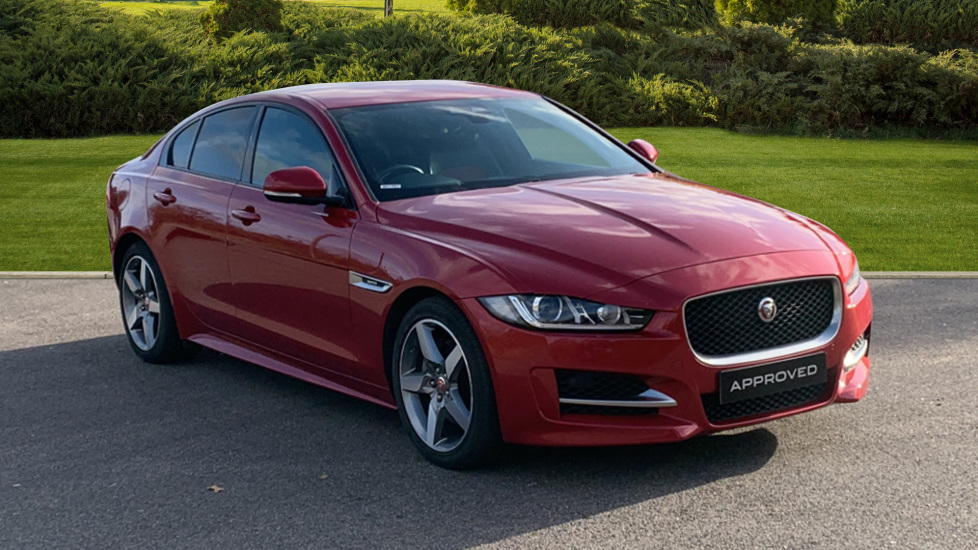 Jaguar XE 2.0d [180] R-Sport - Privacy Glass - SAT NAV - DAB Radio - Bluetooth - Red/Ebony Interior - Diesel Automatic 4 door Saloon (2016) image