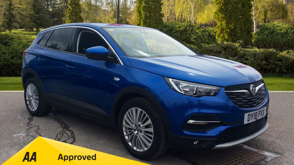 Vauxhall Grandland X 1.6 Turbo D Tech Line Nav Diesel Automatic 5 door Hatchback (2018) at County Motor Works Vauxhall thumbnail image