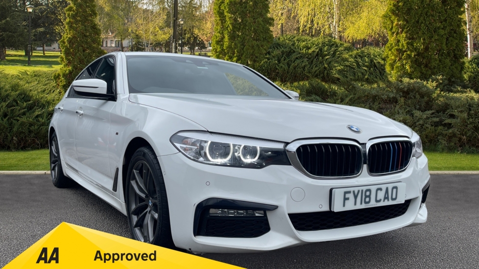 BMW 5 Series 520i M Sport - Automatic, Front/Rear Parking Sensors & Satellite Navigation 2.0 4 door Saloon (2018) image