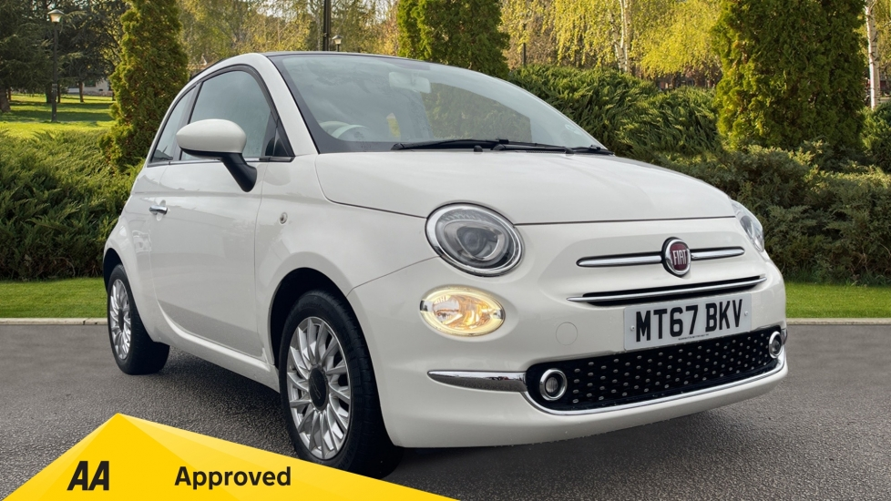 Fiat 500 1.2 Lounge 3dr - Glass Roof, Front Electric Window & Bluetooth Hatchback (2017)