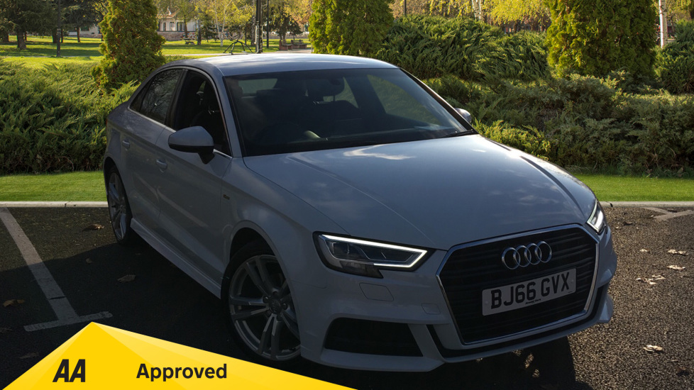 Audi A3 1.4 TFSI S Line S Tronic Automatic 4 door Saloon (2016) available from Renault Bury thumbnail image