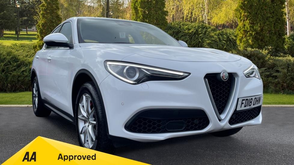 Alfa Romeo Stelvio 2.0 Turbo 280 Speciale 5dr Alfa White Solid Paint, Front/Rear Parking Sensors & Sat Nav Automatic Estate (2018)