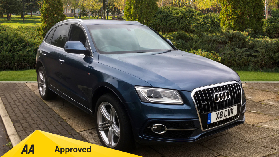 Audi Q5 3.0 TDI Quattro S Line Plus 5dr S Tronic with Panoramic Roof, Heated Front Seats Diesel Automatic Estate (2015) image