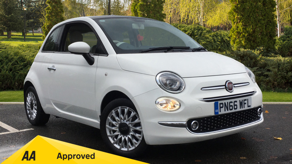 Fiat 500 1.2 Lounge Dualogic Automatic 3 door Hatchback (2016) image