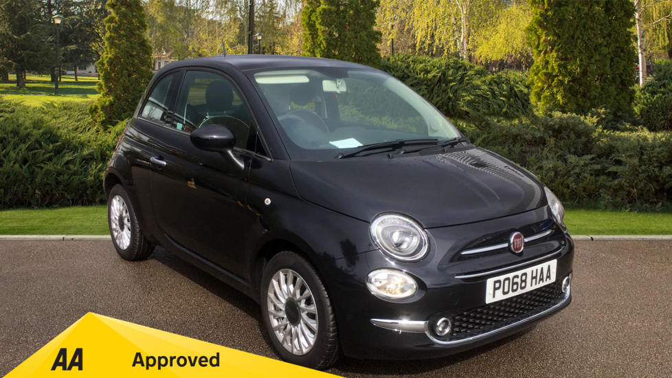 Fiat 500 1.2 Lounge with Rear park Assist, Active TFT Screen, USB Input 2 door Hatchback (2018) image