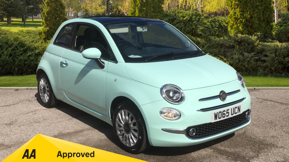 Fiat 500 1.2 Lounge - Rear Park Assist and Glass Roof 3 door Hatchback (2015) image