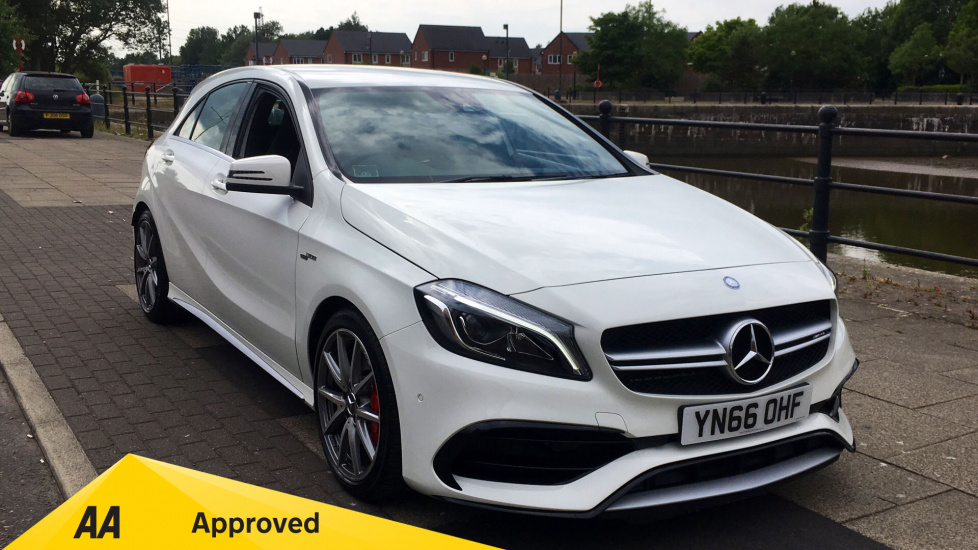 Mercedes-Benz A-Class A45 4Matic with AMG Performance Exhaust and One Owner 2.0 Automatic 5 door Hatchback (2016) image