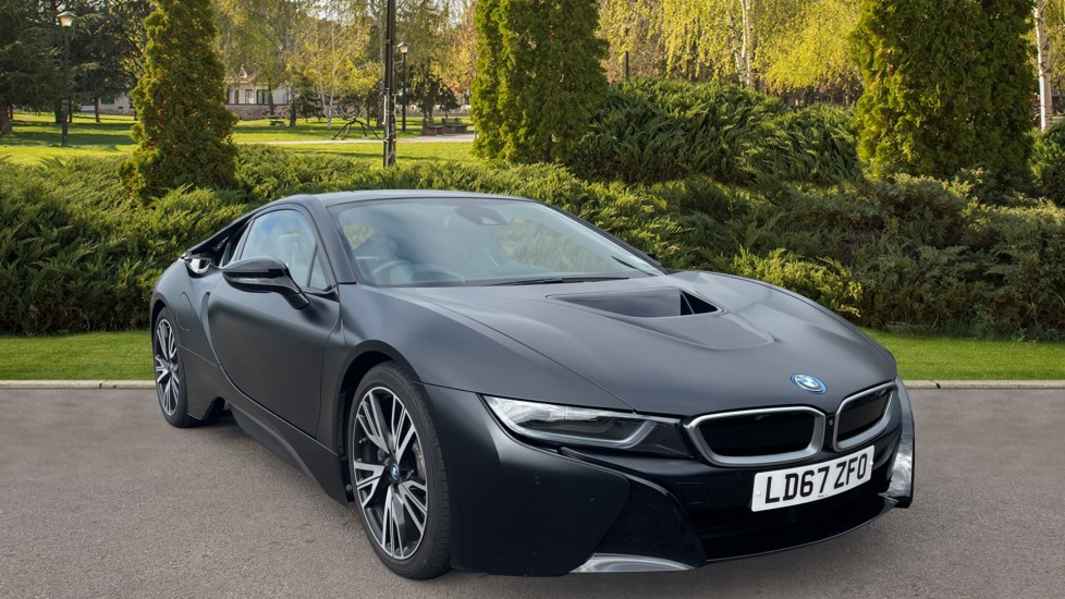 BMW i8 Protonic Frozen Black Edition Comfort Access, Online Entertainment, Traffic sign recognition 1.5 Petrol/Electric Automatic 2 door Coupe (2017) image