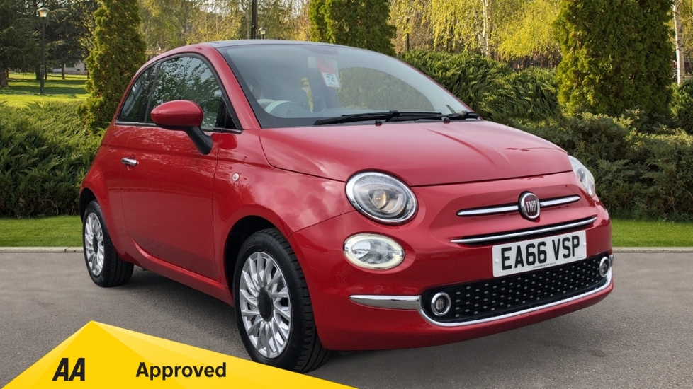Fiat 500 1.2 Lounge 3dr - Glass Roof, Electric Front Windows & Bluetooth Hatchback (2016)