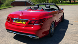 MERCEDES E-CLASS E220 CDI AMG SPORT CONVERTIBLE, DIESEL, in RED, 2014 - image 3