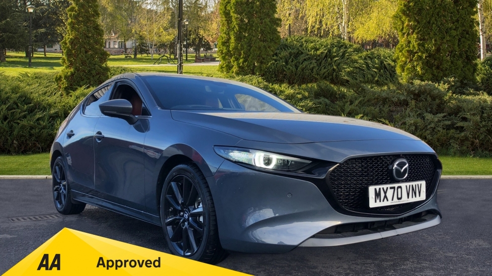 Mazda 3 2.0 Skyactiv-X MHEV GT Sport Tech 5dr, Red Leather Interior, Heated Seats, Reverse Camera Hatchback (2020)