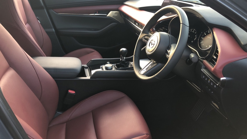 Mazda 3 2.0 Skyactiv-X MHEV GT Sport Tech 5dr, Red Leather Interior, Heated Seats, Reverse Camera image 31