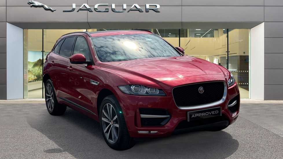 Jaguar F-PACE 2.0d R-Sport 5dr AWD Sliding Panoramic Roof and Advanced Parking Pack image 1