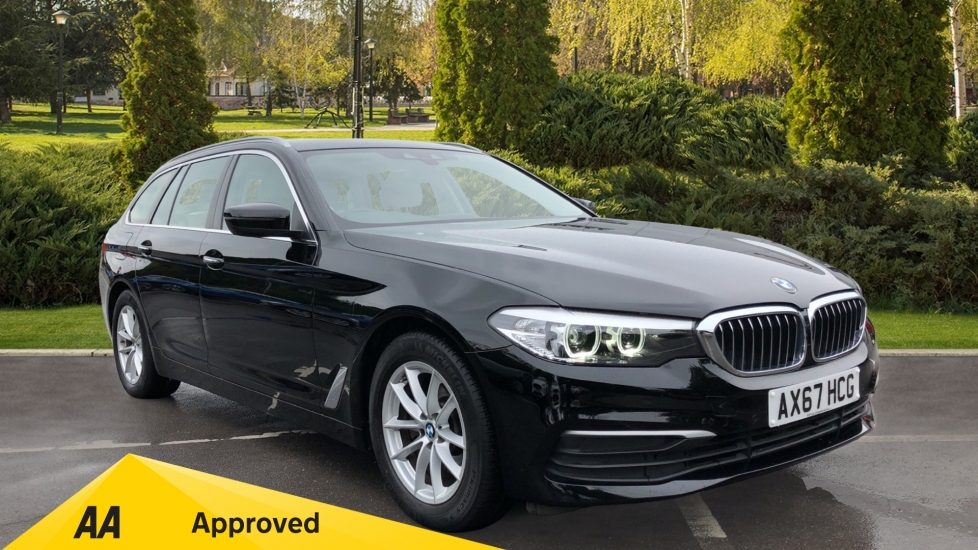 BMW 5 Series 520d SE 5dr - Front/Rear Parking Sensors, Sat Nav & DVD Player 2.0 Diesel Automatic Estate (2017) image