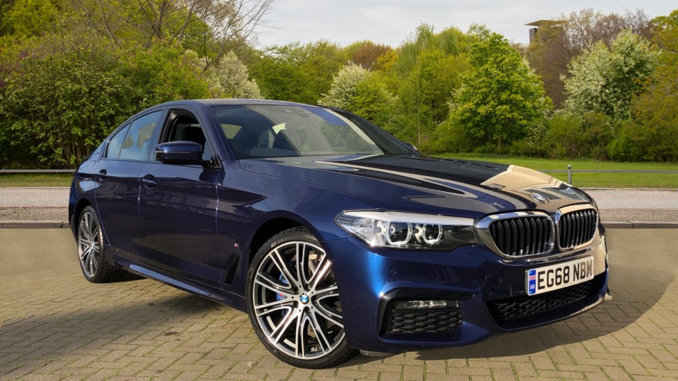 BMW 5 Series 530e M Sport Auto, Plug In Hybrid, Rear Camera, Heated Seats, Nav, 80Gb Hard Drive, DAB Radio 2.0 Petrol/Electric Automatic 4 door Saloon (2018) image