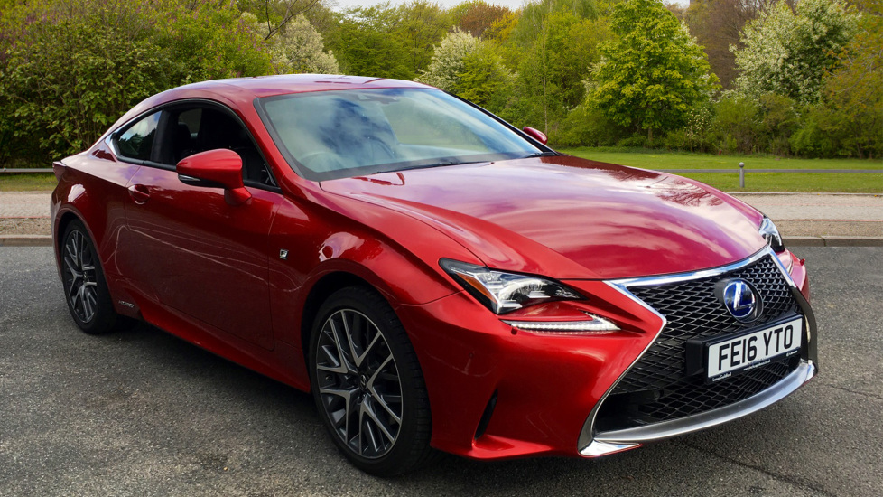 Lexus RC 300h 2.5 F-Sport CVT W. Rear Parking Camera, Sat Nav & Gear Shift Paddles Petrol/Electric Automatic 2 door Coupe (2016)