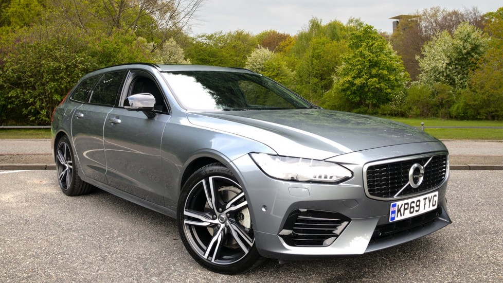 Volvo V90 T8 Hybrid R Design Plus AWD Auto, Xenium & Winter Packs, Nav, Sunroof, 360 Camera, Head Up Display 2.0 Petrol/Electric Automatic 5 door 4x4 (2019)