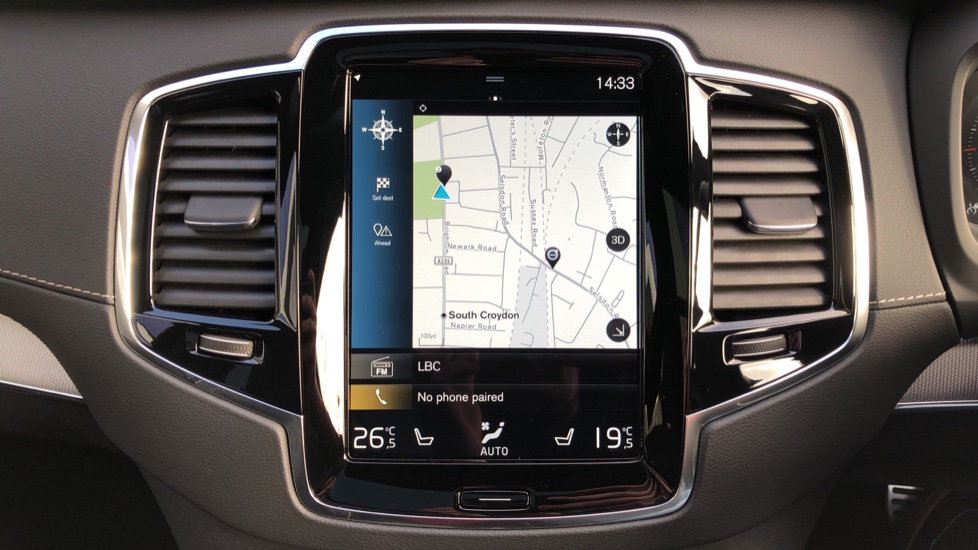 Volvo XC90 T8 Recharge PHEV R Design Pro AWD Auto, Lounge, Climate & Driver Assist Packs, Sunroof, B & W image 6