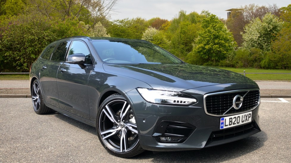 Volvo V90 D4 R Design Plus Auto, Xenium & Winter Packs, Harman Kardon, 20in Alloys, Intellisafe Surround, BLIS 2.0 Diesel Automatic 5 door Estate (2019)