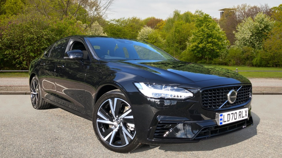 Volvo S90 T8 Recharge PHEV R Design AWD Auto, Climate Pack, Nav, Heated Screen, Rear Camera, Keyless Drive 2.0 Petrol/Electric Automatic 4 door Saloon (2020) available from Jaguar Swindon thumbnail image