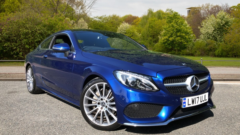 Mercedes-Benz C-Class Sports Coupe C220d AMG Line Premium Coupe Auto, Nav, F & R Park Sensors, Sunroof, 19in AMG Alloys, DAB 2.1 Diesel Automatic 2 door (2017)