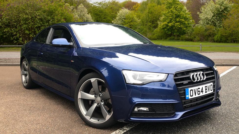 Audi A5 2.0T FSI 225 Quattro Black Edition 2dr Auto, B+O Audio, Adv Key & Park Systems, Heated Seats.  Automatic Coupe (2014) image