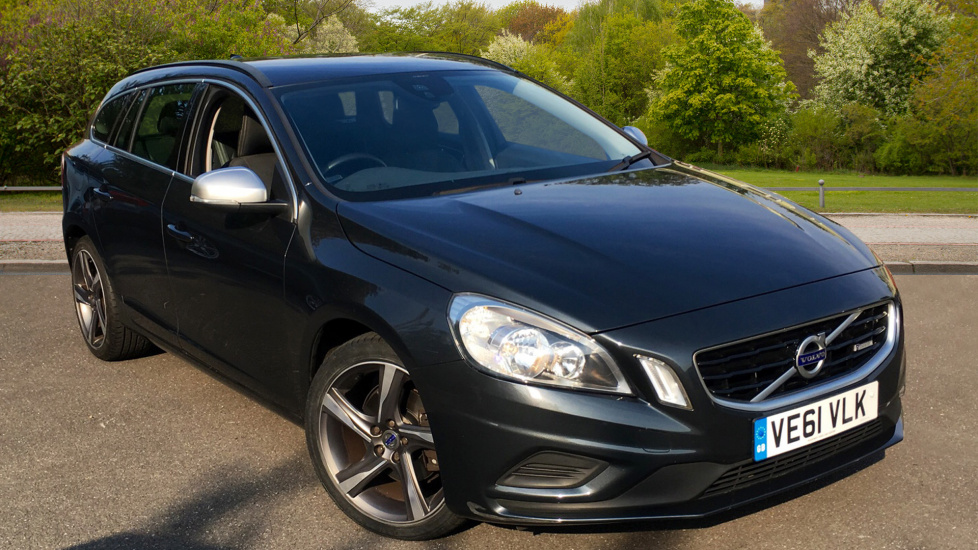 Volvo V60 Drive E R Design With Leather Steering Wheel, 18 Inch Alloy Wheels and City Safe 1.6 Diesel 5 door Estate (2011) image