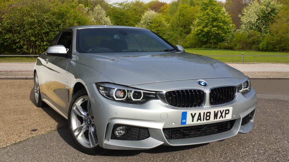 BMW 4 Series 420i M Sport Cabriolet, Professional Media, Folding Hard Top, Nav, Bluetooth, F & R Sensors 2.0 Automatic 2 door Convertible (2018) image