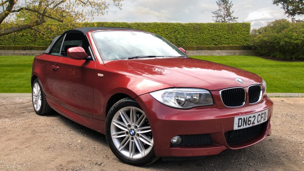 BMW 1 Series 120d M Sport 2dr Cabriolet Manual, Rear Park Sensors, CD Player with AUX, Dual Zone Climate 2.0 Diesel Convertible (2012)