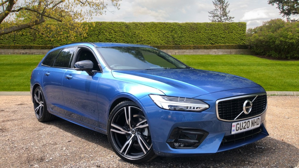 Volvo V90 T4 R Design Plus AT, Winter Pk, 360 Cam, IntelliSurround with BLIS, 20in Alloys, 3 Pin Socket 2.0 Automatic 5 door Estate (2020) available from Jaguar Swindon thumbnail image