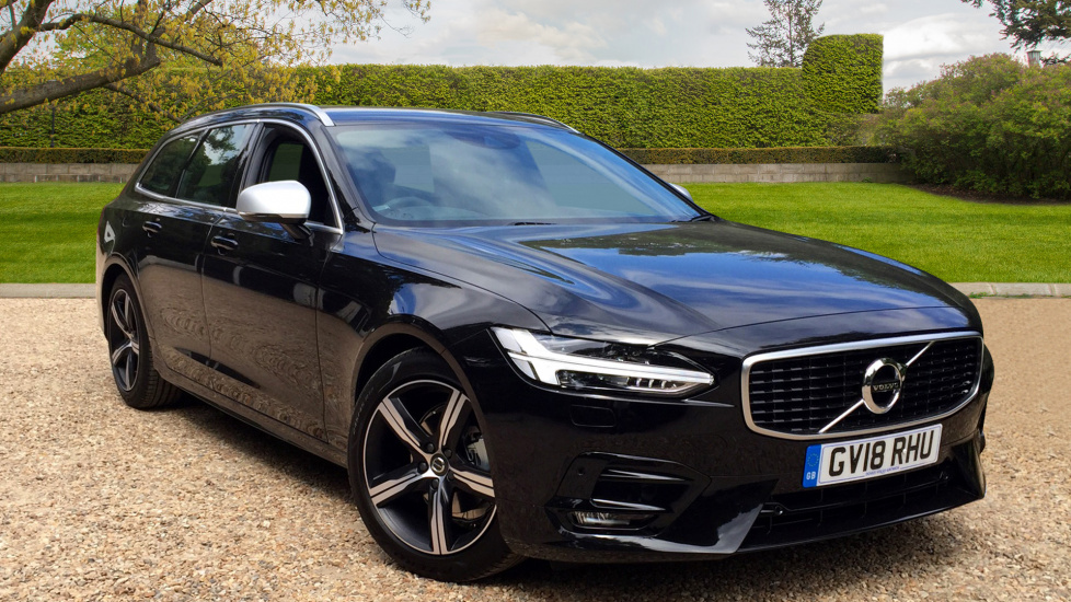 Volvo V90 D4 R Design Estate Auto with Sat Nav, Bluetooth, Winter Pack, Polestar 2.0 Diesel Automatic 5 door (2018) image