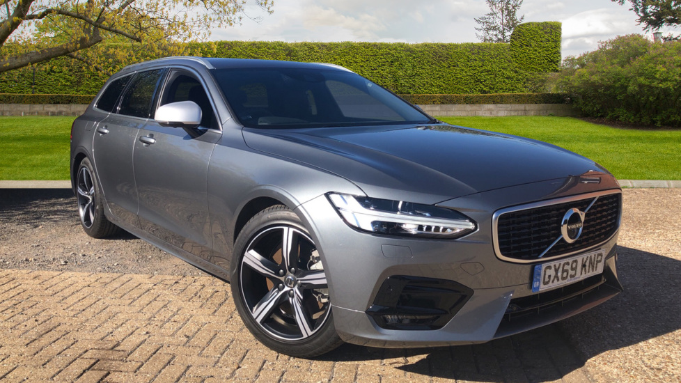 Volvo V90 2.0 T4 R Design Auto with Winter & S/Phone Pks, BLIS, 360Camera, Privacy Glass, 3Pin Socket. Automatic 5 door Estate (2019) image