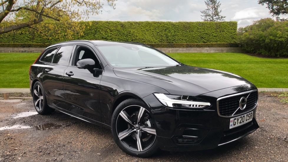 Volvo V90 2.0 T4 R Design Plus AT, Winter Pack, Intellisafe Surround with BLIS, 360 Cam, 3 Pin Socket Automatic 5 door Estate (2020) available from Land Rover Swindon thumbnail image
