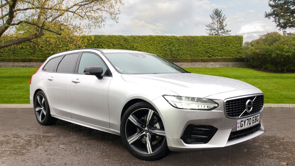 Volvo V90 T4 R Design Plus Auto, Nav, Winter Pack, Heated Screen, Active Bending Lights, DAB, Keyless Drive 2.0 Automatic 5 door Estate (2020) available from Jaguar Barnet thumbnail image