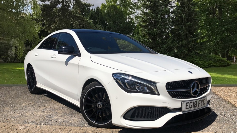 Mercedes-Benz CLA-Class CLA 220d AMG Line Night Edition Plus 7spd Auto, Rear Camera, Panoramic Roof, F & R Sensors 2.1 Diesel Automatic 4 door Coupe (2018)