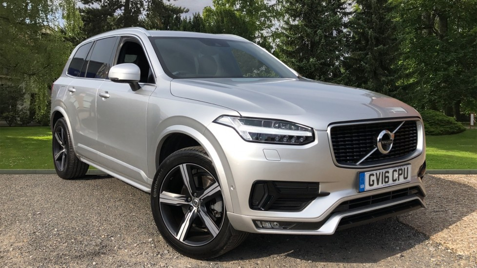Volvo XC90 D5 PowerPulse R Design AWD Auto, Xenium, Winter & Family Packs, HUD, BLIS, Smartphone Int, 2.0 Diesel Automatic 5 door 4x4 (2016)