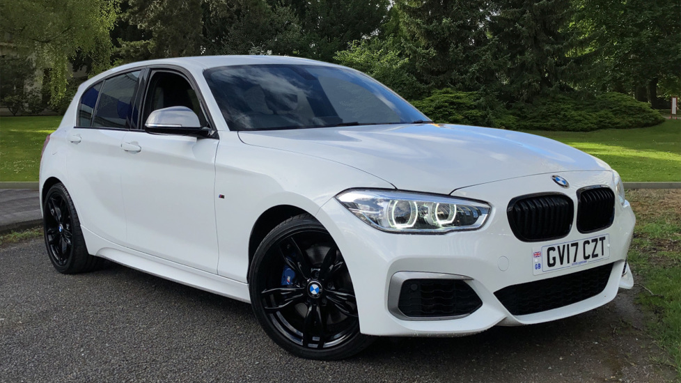 BMW 1 Series M140i, Sport Auto Gearbox, Nav, Rear Sensors, BMW Professional Media & Rr. Park Distance Control 3.0 Automatic 5 door Hatchback (2017) available from Land Rover Hatfield thumbnail image