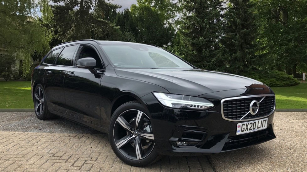 Volvo V90 T4 R Design Plus Auto, Winter Pack, Intellisafe Surround with BLIS, 360 Camera, 3 Pin Socket 2.0 Automatic 5 door Estate (2020)