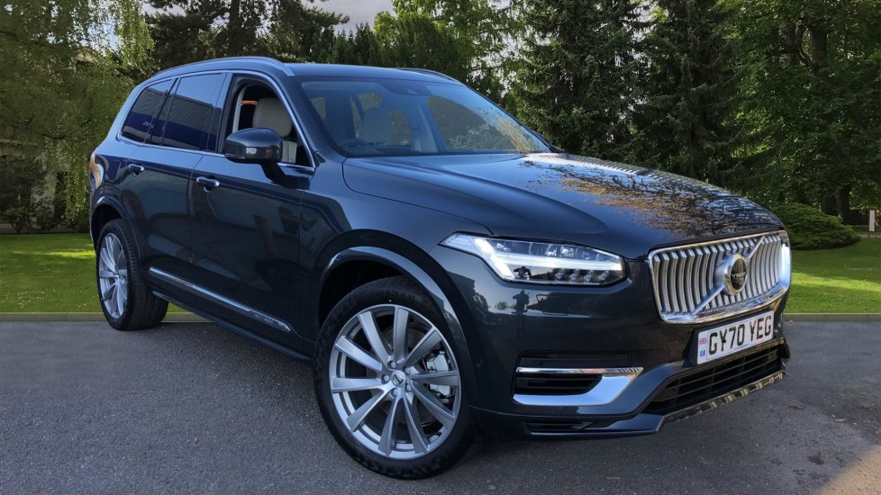 Volvo XC90 T8 Recharge PHEV Inscription Pro AWD Auto, Nav, Sunroof, Lounge, Tech, Climate & Driver Assist 2.0 Petrol/Electric Automatic 5 door 4x4 (2021) available from Jaguar Swindon thumbnail image