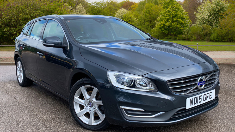 Volvo V60 D2 [115] SE Lux Nav 5dr Powershift with Winter Pack, Leather, Cruise Control 1.6 Diesel Automatic Estate (2015) image