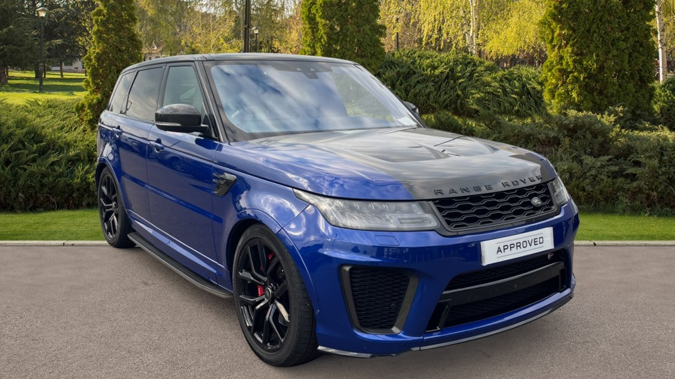 Land Rover Range Rover Sport 5.0 V8 S/C 575 SVR Heated and cooled front seats with heated rear seats, Meridian Surround Sound Automatic 5 door 4x4