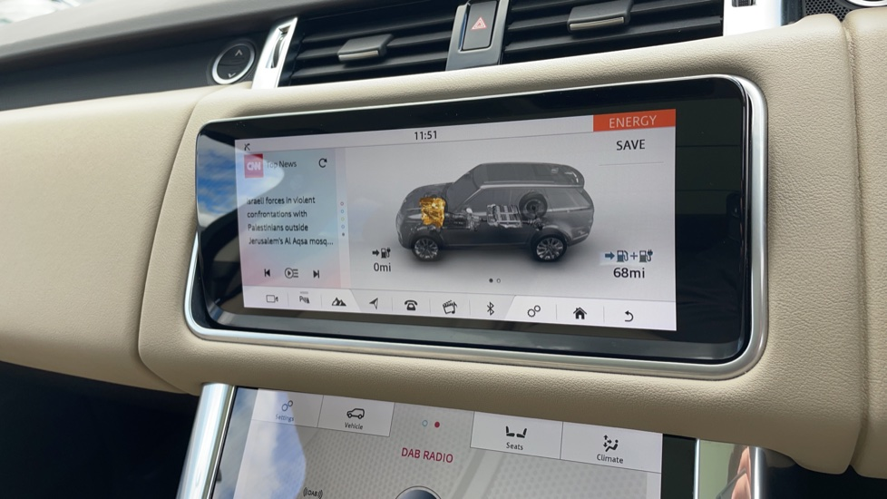 Land Rover Range Rover Sport 2.0 P400e HSE Fixed panoramic roof Meridian Surround Sound System image 27